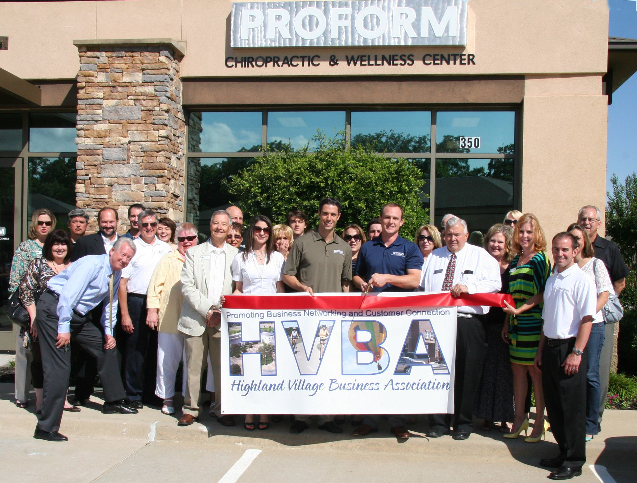 ribbon cutting - ProForm Chiropractic & Wellness Center